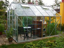 Garden conservatory greenhouse Royalty Free Stock Images