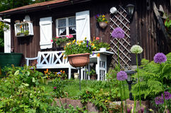 Garden Cottage in the summer Stock Images