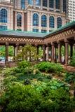 Garden in a courtyard of a church, in Boston, Massachusetts. Stock Photography