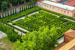 Garden in the courtyard of San Giorgio Monastery in Venice, Ital Royalty Free Stock Photos