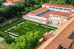 Garden in the courtyard of San Giorgio Monastery in Venice, Ital Royalty Free Stock Images