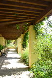 Garden Covered Corridor Royalty Free Stock Photos