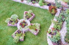 Garden cross in Meteora monastery, Greece Royalty Free Stock Photography