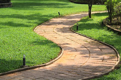Garden curve stone path Stock Photos