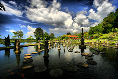 Garden and d Pagoda. Pagoda and garden in Bali, Asia Royalty Free Stock Photos