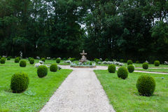 Garden of Dampierre-sur-Boutonne castle. In charente maritime , France Royalty Free Stock Photo