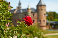 Garden of the De Haar Castle royalty free stock photo
