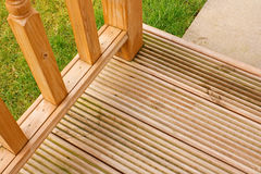 Garden Decking corner Stock Photography