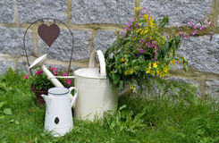 Garden decoration flower pot Stock Photography