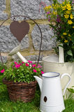 Garden decoration flower pot Royalty Free Stock Photo