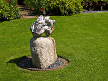 Garden decoration made of stone Stock Photos