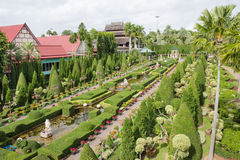 The garden decoration in Nong Nooch tropical garden in Pattaya, Thailand Royalty Free Stock Images