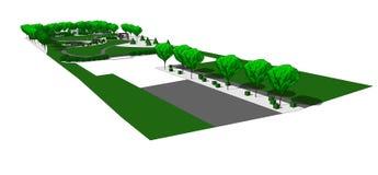 Garden design 3d Royalty Free Stock Image