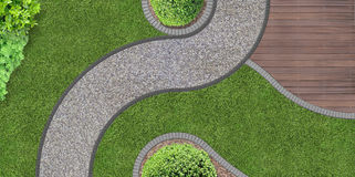 Free Garden Design From Above Royalty Free Stock Images - 50520549