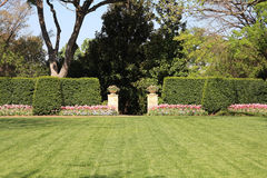 Garden design in the park. Pretty spring garden design in the park. It is in Dallas Arboretum, TX USA Royalty Free Stock Images