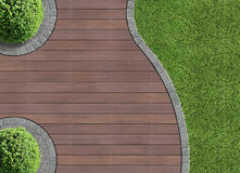 Garden detail in aerial view Royalty Free Stock Image