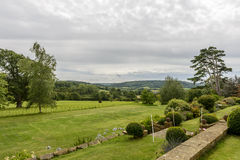 Garden and Devon countryside Royalty Free Stock Image