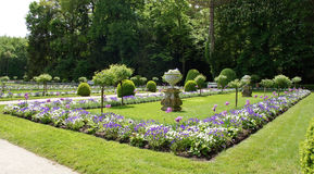 Garden of Diana de Poitiers at Chateau Chenonceau Royalty Free Stock Image