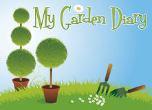 Garden Diary Royalty Free Stock Images
