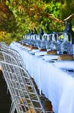 Garden dining table Royalty Free Stock Photography
