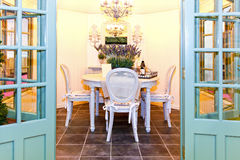 Garden dinning room Royalty Free Stock Photos