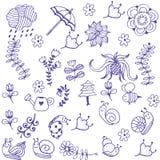 Garden of doodle art Royalty Free Stock Photos