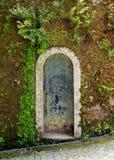 Garden door in Quinta da Regaleira. Estate, Sintra, Portugal royalty free stock photo