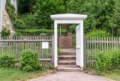 Garden door to Goethe`s garden house. Classicist garden door to Goethe`s garden house in Weimar royalty free stock image