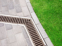 Garden drain Stock Image