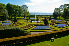 Garden of Dunrobin Castle Royalty Free Stock Image