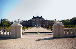 Garden from Dutch palace . Garden from Royal palace Het Loo . Apeldoorn, Netherlands Stock Photos