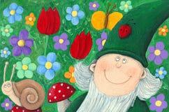 Garden dwarf royalty free illustration