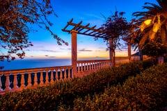 Garden on the eastern coast of La Palma island Stock Photo