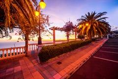 Garden on the eastern coast of La Palma island Royalty Free Stock Photos