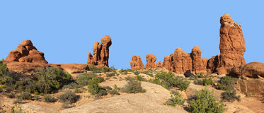 Garden of Eden, Arches National Park Stock Images