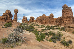 Garden of Eden Rock Formation in Arches National Park Stock Images