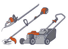 Garden electric tools Royalty Free Stock Image
