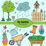 Garden elements Stock Images