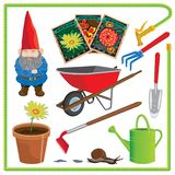 Garden Elements and Icons Stock Photos