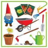 Garden Elements and Icons Stock Photos