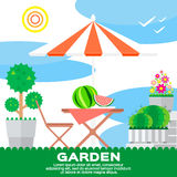 Garden elements Royalty Free Stock Photography