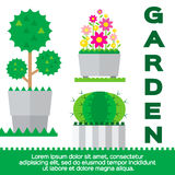 Garden elements Stock Image