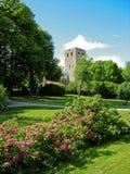 Garden en ruins in Sweden Stock Photo