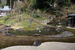 Garden at `Engakuji Zen temple` complex. One of Five Great Zen Temples Gozan. Taken in Kamakura, Japan - February 2018 stock photos