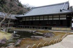 Garden at `Engakuji Zen temple` complex. One of Five Great Zen Temples Gozan. Taken in Kamakura, Japan - February 2018 stock image