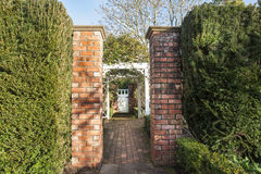 Garden entrance. Royalty Free Stock Image