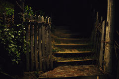 Garden Entrance During Night Royalty Free Stock Image