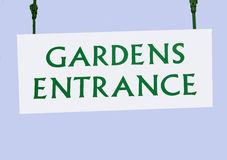 Garden Entrance sign Stock Photography