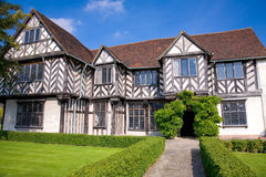 Garden and entrance of a tudor manor, UK Royalty Free Stock Photography