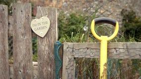 Garden entry stock video